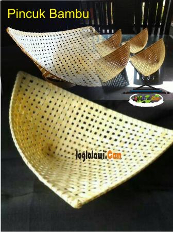 Piring Pincuk Bambu