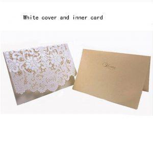 Luxury Flora Laser Cut Wedding Invitations Card