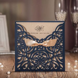 Laser Cut Lace Wedding Invitation Cards