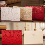 Floral Laser Cut Wedding Invitations Cards
