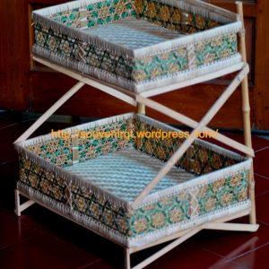 Rak Bambu Susun Dua