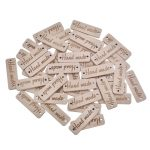 50Pcs Rectangle Wooden Button