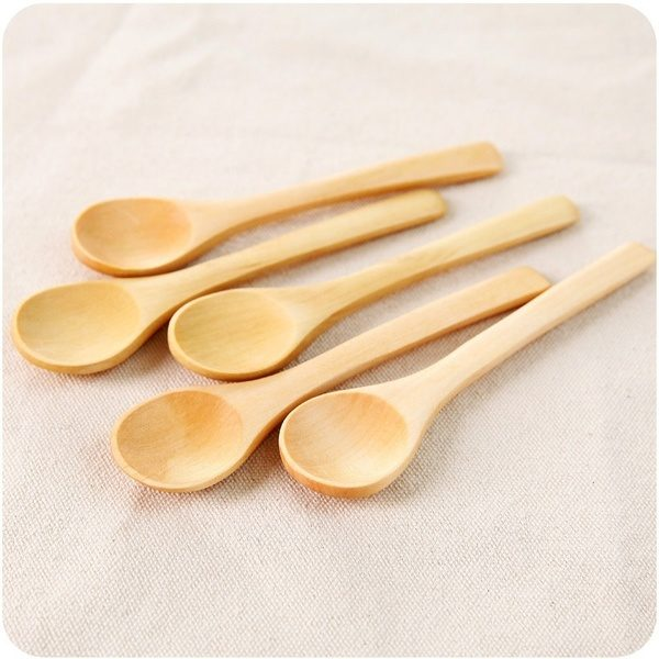 6 Pieces Mini Wooden Spoon