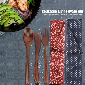 Reusable Wooden Cutlery Set