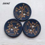 SHINE 50PCs Wood Sewing Buttons