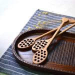 2Pcs Beech Honey Spoon